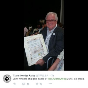 Responsible Tourism Award 2015 winner Gold