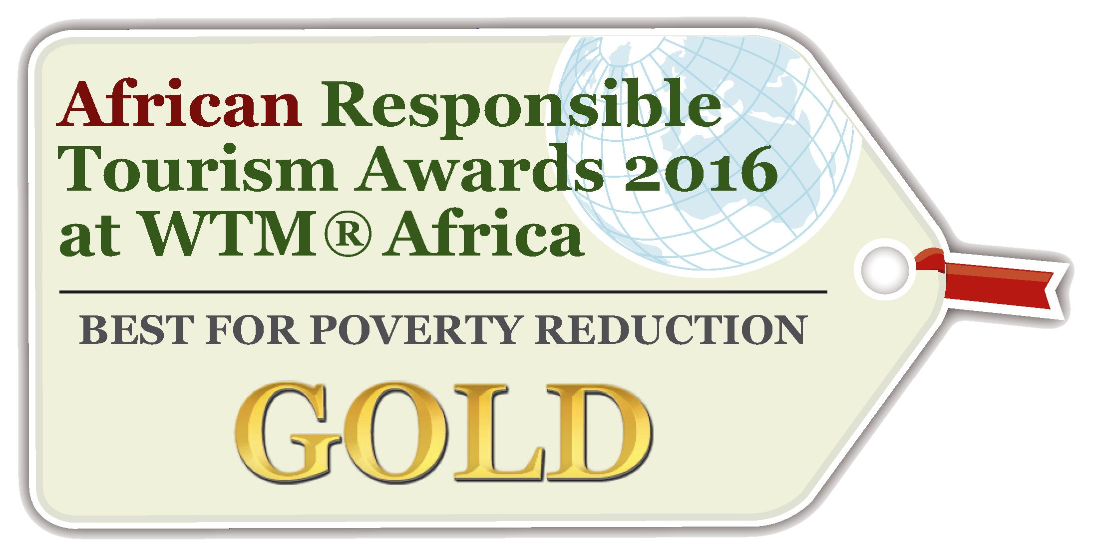 Gold to !Xaus Lodge for Best for Poverty Reduction